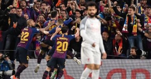 ملخص مباراة وأهداف برشلونة اليوم ضد ليفربول وحسرة صلاح