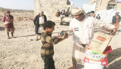 """الهلال الإماراتي يوزع المير الرمضاني في """" مسورة """" بالبيضاء"""