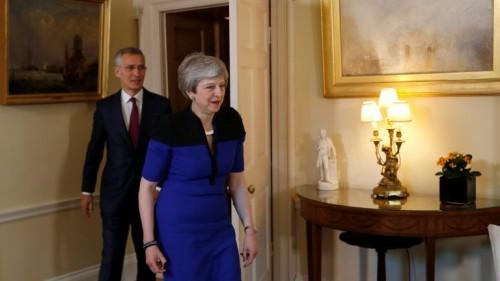 ماي وستولتنبرغ يناقشان قمة حلف الناتو المزمع عقدها بلندن في ديسمبر