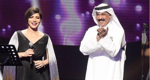 الفنان عبد الله الرويشد يهنئ أصالة بعيد ميلادها