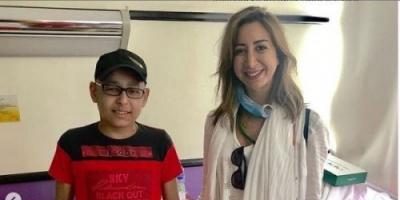 بالصور.. الإعلامية هند رضا تدعم مرضى السرطان في شهر الخير