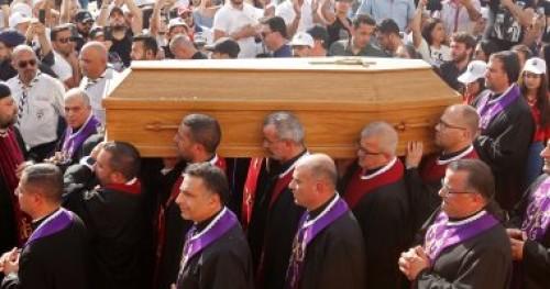 زعماء لبنان السياسيون يحضرون جنازة البطريرك الماروني السابق