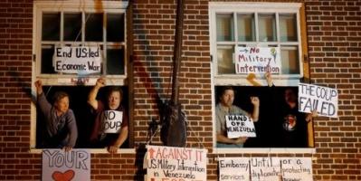 فنزويلا تستنكر اقتحام مقر سفارتها بواشنطن وتلجأ للمحكمة الدولية