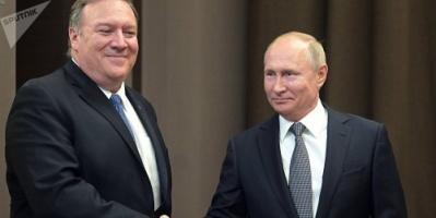 """""""بومبيو"""" يعلن نجاح  المحادثات الأخيرة مع الرئيس الروسي"""