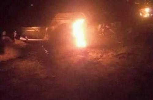 استشهاد مواطن وإصابة آخرين جراء استهداف مليشيا الحوثي لسيارتهم بالقرب من الفاخر شمال قعطبة