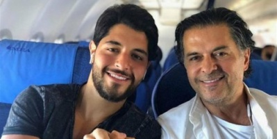 راغب علامة يحتفل بعيد ميلاد ابنه خالد (فيديو)