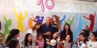 بالفيديو.. هكذا احتفلت نانسي عجرم بعيد ميلاد ابنتها ميلا