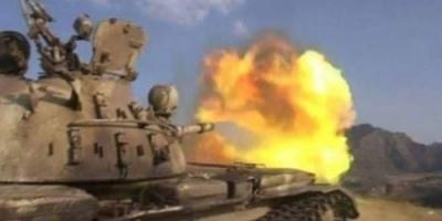 """عودة الاشتباكات بين قوات الجنوب والحوثيين جبهة """" عويش ـ الجُب """""""