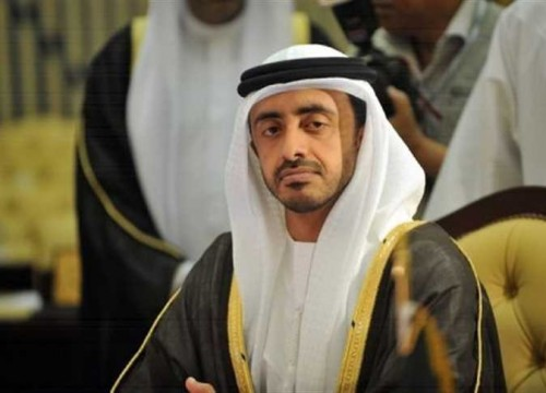 الشيخ عبد الله بن زايد يبحث مع نظيره الأردني العلاقات بين البلدين