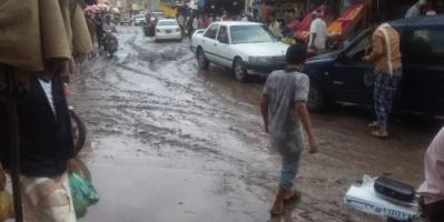 أمطار غزيرة على مناطق متفرقة في الحبيلين بردفان