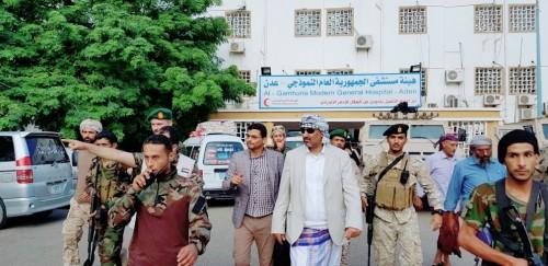 الزُبيدي يزور جرحى الضالع بمستشفى الجمهورية بعدن (صور)