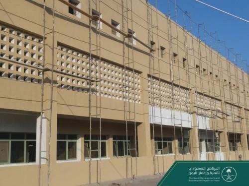 البرنامج السعودي يواصل العمل على ترميم مستشفى عدن العام