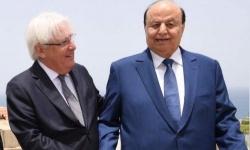 في رسالة للأمم المتحدة.. هادي ينتقد غريفيث بسبب تعاملاته مع الحوثيين