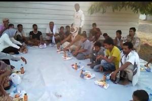 الهلال الأحمر يوزع 600 وجبة إفطار بمديرية تبن