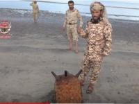 الفرق الهندسية للقوات المشتركة تفجر ألغام بحرية حوثية في سواحل منظر بالحديدة (فيديو)
