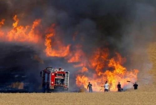 عاجل.. اندلاع حريق هائل بأحد المستوطنات القريبة من غزة