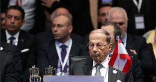 الرئيس اللبناني يجري مباحثات بشأن ترسيم الحدود البحرية الجنوبية