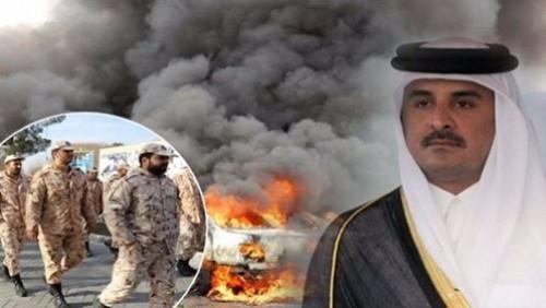 """خنجر تميم """" المسموم """".. قطر تُمزِّق اليمن بدعم الحوثي والإصلاح"""