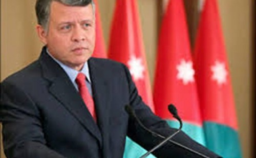 العاهل الأردني: لابد من تكثيف جميع الجهود لتحقيق السلام الشامل في فلسطين