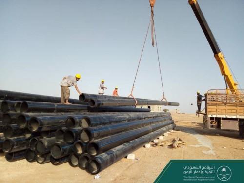 وصول الدفعة الثانية من تجهيزات مشروع الخط الناقل للمياه في المهرة