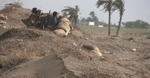 قصف جديد من المليشيات الحوثية على مواقع ألوية العمالقة بالجبلية