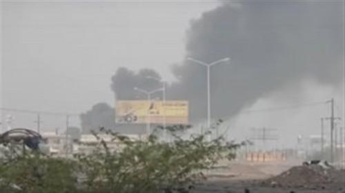 تدمير موقع مستحدث بالحديدة يستخدمه الحوثيين في عمليات قصف