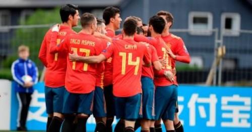 منتخب أسبانيا يتقدم على جزر فارو 3/1 بالشوط الأول.. تصفيات يورو 2020