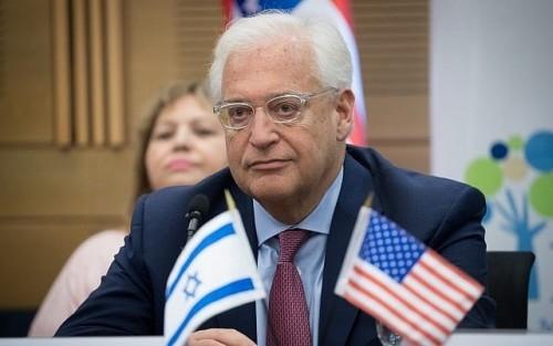 """فلسطين تصف السفير الأمريكي بتل أبيب بـ"""" سفير الاستيطان """""""