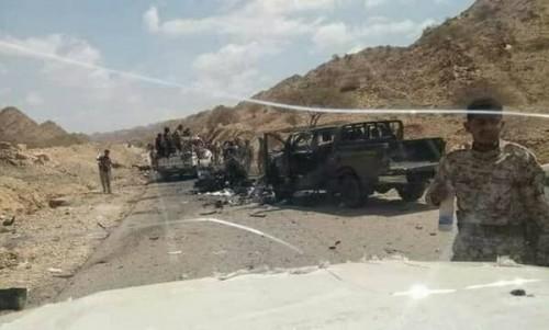 استشهاد جنديين من الحزام الأمني وإصابة 4 في انفجار عبوة ناسفة بأبين