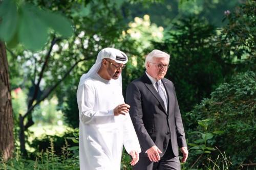 محمد بن زايد: الإمارات وألمانيا تتشاركان التطلعات في إرساء الأمن والسلم العالميين