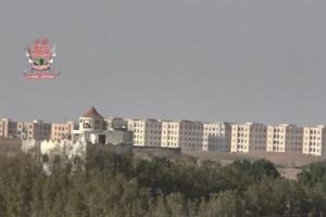 قصف حوثي عنيف لمواقع ألوية العمالقة في مدينة الصالح
