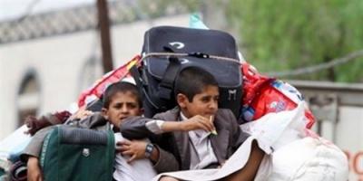 تضرر أكثر من 1500 أسرة نازحة في أبين وحجة جراء الأمطار