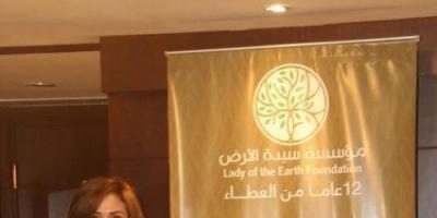 """إلهام شاهين توجه رسالة لفلسطين بعد منحها لقب """" سفيرة سيدة الأرض """""""