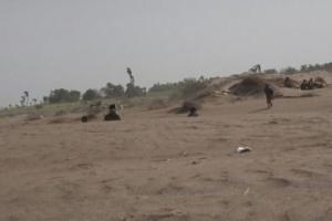 قصف حوثي مكثف على مواقع العمالقة بالجبلية بعد مقتل قيادي بارز بالمليشيات
