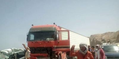 مصرع شخصين جراء حادث تصادم مروع في بروم بالمكلا