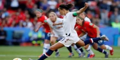 أمريكا تتأهل لدور الـ16 بمونديال السيدات بالفوز على تشيلي