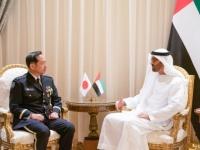 محمد بن زايد يستقبل رئيس أركان القوات اليابانية