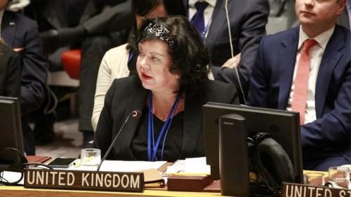 مندوبة بريطانيا لدى الأمم المتحدة: ندين الهجوم الحوثي على مطار أبها السعودي