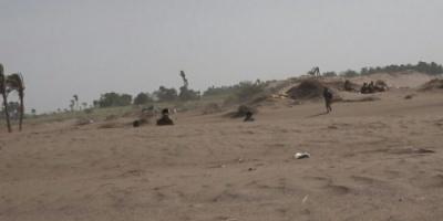 قصف حوثي مكثف على مواقع العمالقة في الجبلية