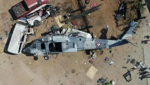 مقتل وإصابة 4 أشخاص إثر تحطم مروحية في المكسيك