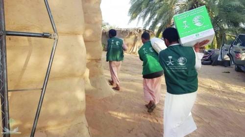 مساعدات غذائية من السعودية لأهالي مديريتي صالة والمظفر