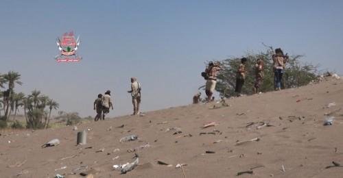 مليشيات الحوثي تقصف مواقع العمالقة في الجبلية بالتحيتا