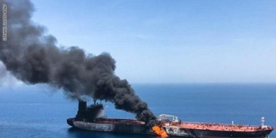 الجيش الأمريكي يتهم إيران بالهجوم على ناقلة النفط اليابانية