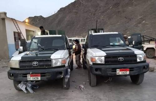 تدشين رش الأطقم العسكرية للحزام الأمني والتدخل السريع في أبين