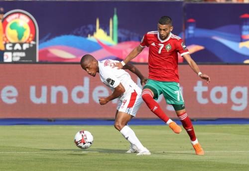 مصريون يدعمون المنتخب المغربي في مباراته أمام ناميبيا