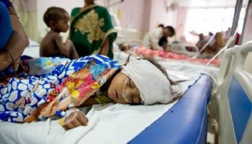 ارتفاع عدد الأطفال المتوفين بمرض الحمى الدماغية في الهند