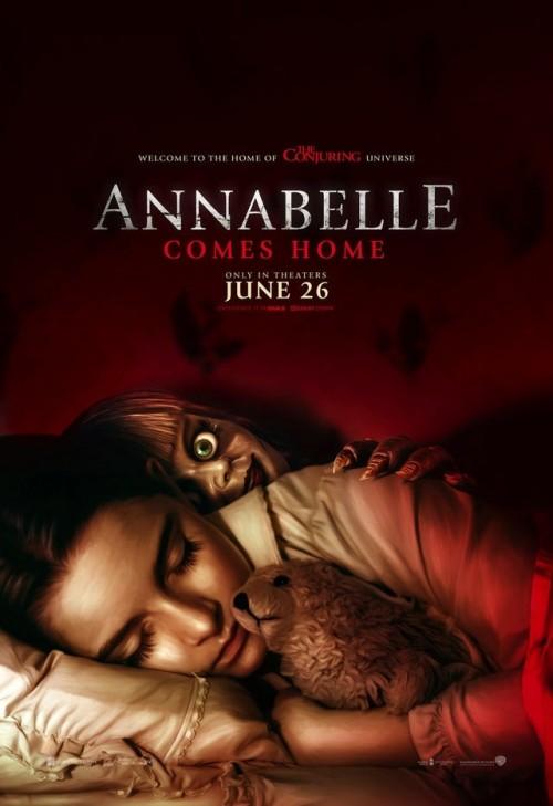 طرح بوستر جديد لفيلم الرعب Annabelle Comes Home