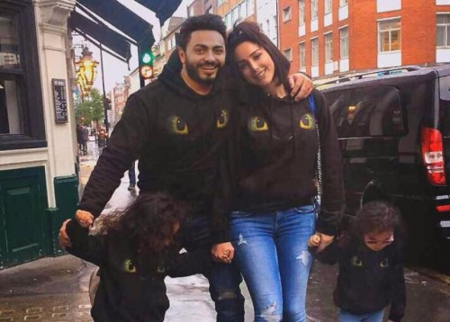 تامر حسني يحتفل بعيد ميلاد ابنتيه (صور)