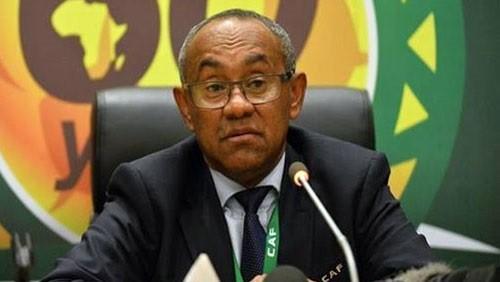 رئيس كاف ووزير رياضة جنوب إفريقيا يحضران مباراة كوت ديفوار وجنوب إفريقيا