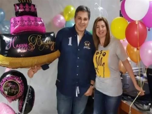 رانيا فريد شوقي تحتفل بعيد ميلاد زوجها (فيديو)